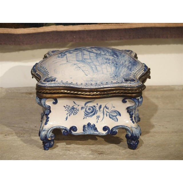 Antique Blue and White Delft Table Box, Late 19th Century For Sale - Image 11 of 13