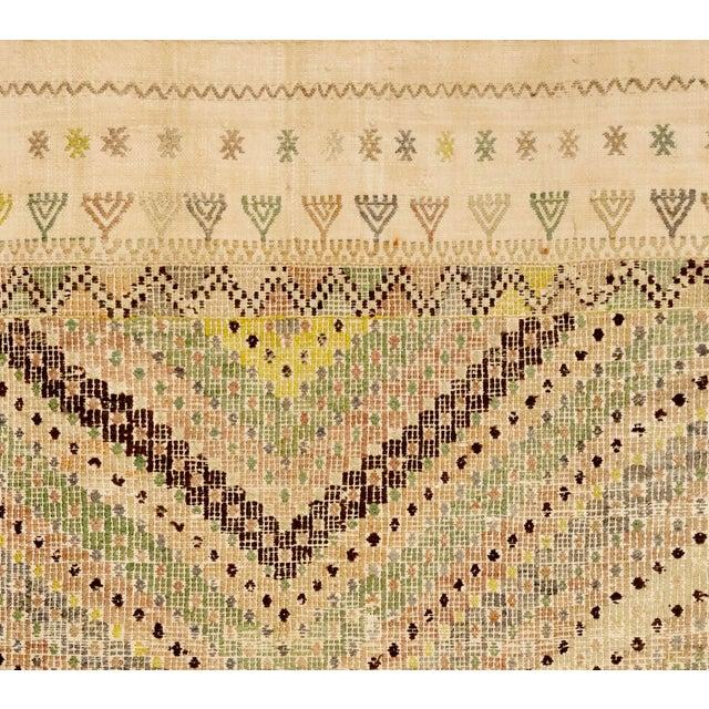 "Boho Chic 20th Century Turkish Embroidered Jajim Flatweave - 6'10"" X 11'7"" For Sale - Image 3 of 4"