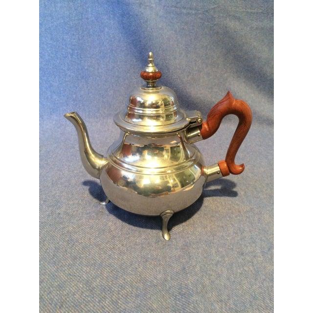 Williamsburg Pewter Tea Set - Set of 4 - Image 3 of 8