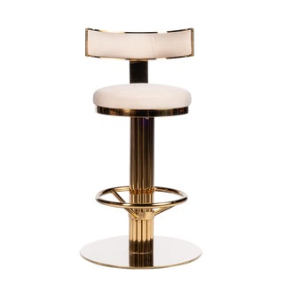 "Oscar Swivel Gold 26"" Counter Chair For Sale"