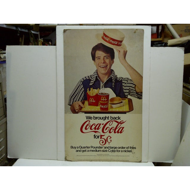 "This is a 2 Sided Advertising Sign McDonalds and Coca-Cola. ""We Brought Back Coca-Cola For 5 Cents The Sign Is Made Of..."