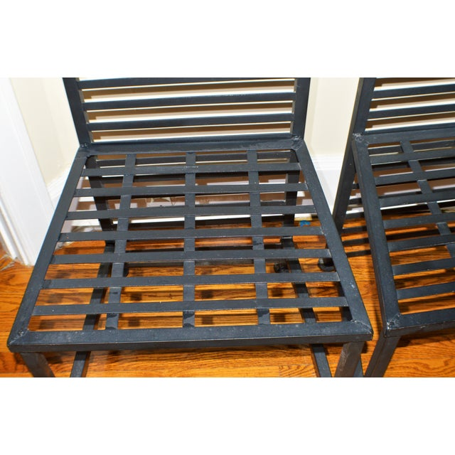 1990s Vintage Brutalist Metal Chairs- A Pair For Sale In Cincinnati - Image 6 of 7