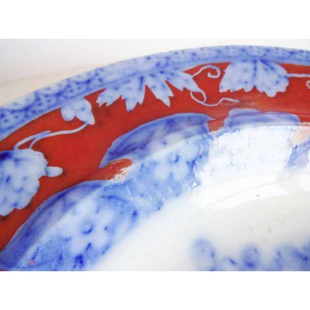 Blue Early 19th Century Antique Mason's Staffordshire Flow Blue Dish For Sale - Image 8 of 10