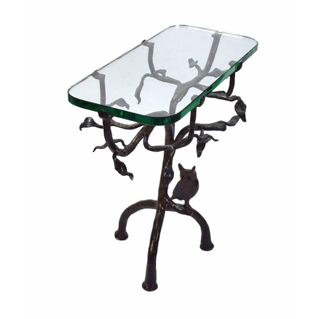 1990s Vintage Twig and Owl Bronze Patinated Iron Table For Sale - Image 5 of 9