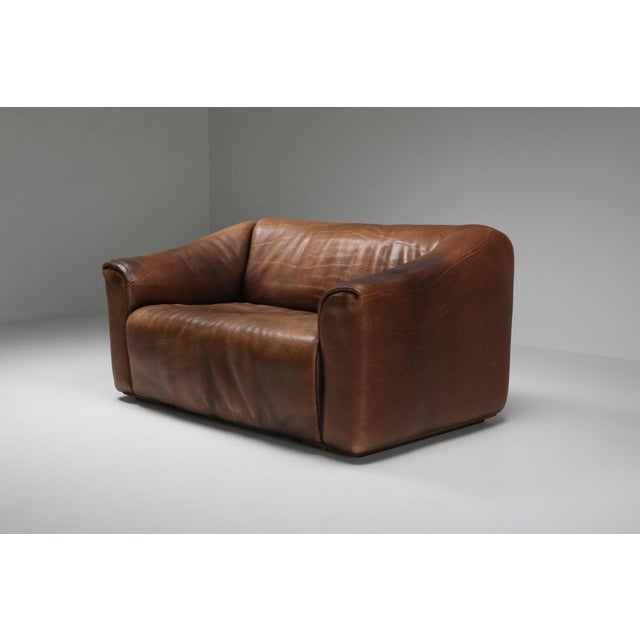 Leather 1970s De Sede Ds 47 Brown Leather Sofa For Sale - Image 7 of 9