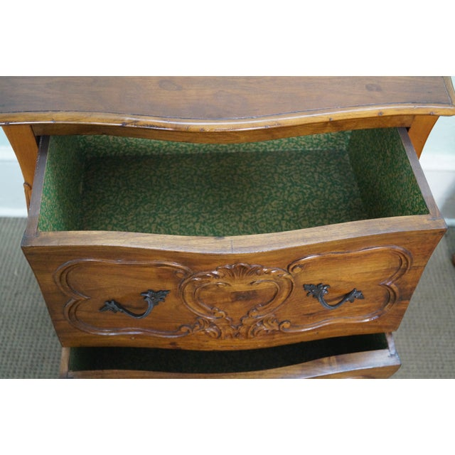 Vintage Carved Italian Bombe Chests - Pair For Sale - Image 4 of 10