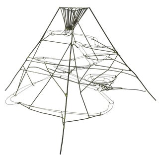Metal Wire Rolling Ball Kinetic Sculpture For Sale