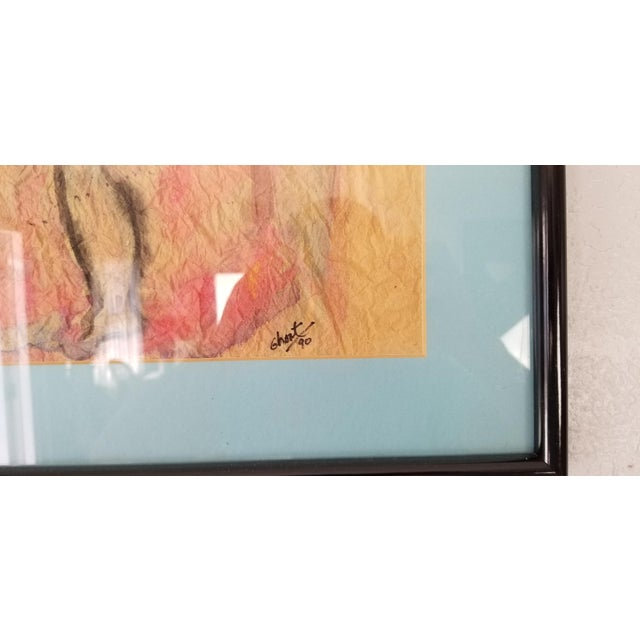 Glass 1990 Ghort Marino Abstract Nude Female Painting For Sale - Image 7 of 11