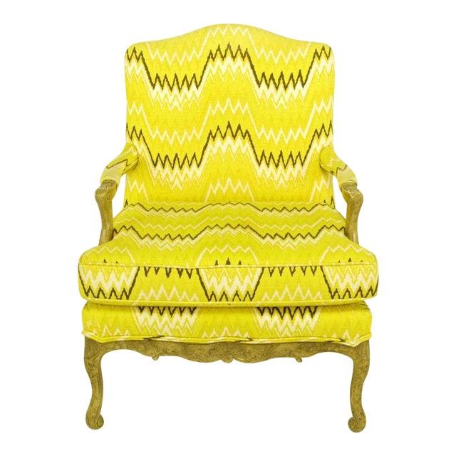 Pair Erwin-Lambeth Louis XV Style Arm Chairs & Ottoman - Image 1 of 10