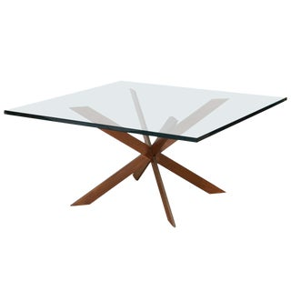 Pace Double Cross Copper Coffee Table For Sale