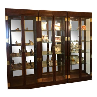 Henredon Lighted Curio Display Cabinets - Set of 3 For Sale