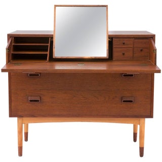 1950s Børge Mogensen Teak and Beech Vanity Dresser For Sale