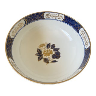 Vintage Hand Painted Floral Imari Bowl For Sale