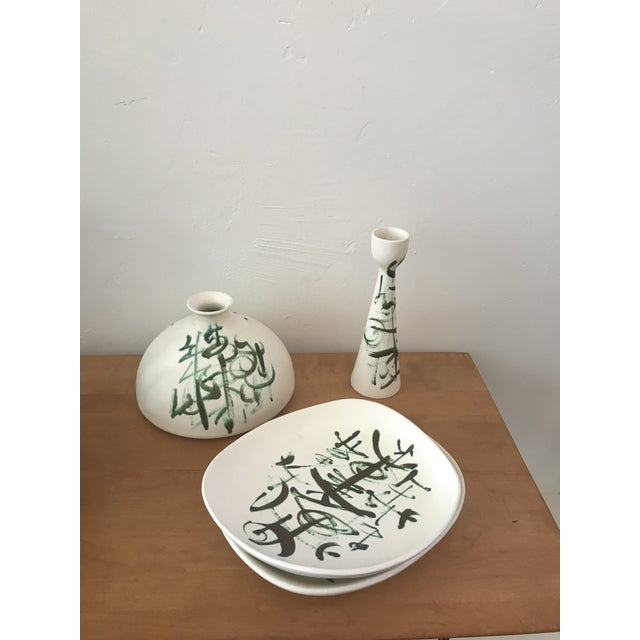 1970s Sascha Brastoff Ceramic Set - 3 Pieces For Sale - Image 5 of 5