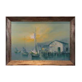 Framed Oil Painting on Canvas by L. Thomas For Sale