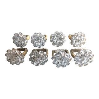 Kim Seybert Ice Diamond Cluster Napkin Rings - Set of 8