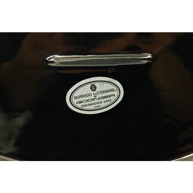 Metal Vintage Godinger Creamer, Sugar & Tray - Set of 3 For Sale - Image 7 of 8