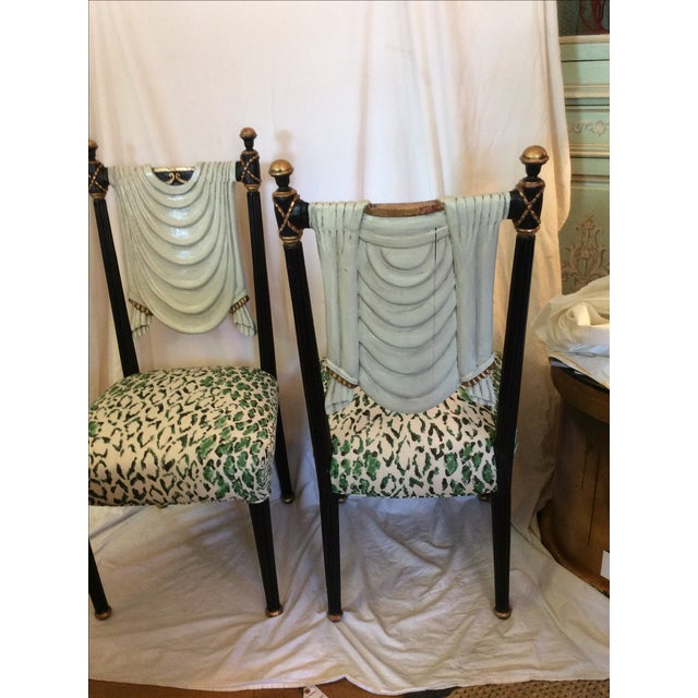 Hollywood Regency Trompe-L'œil Side Chairs - A Pair For Sale - Image 10 of 12