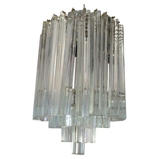Mid-Century Italian Crystal Chandelier For Sale