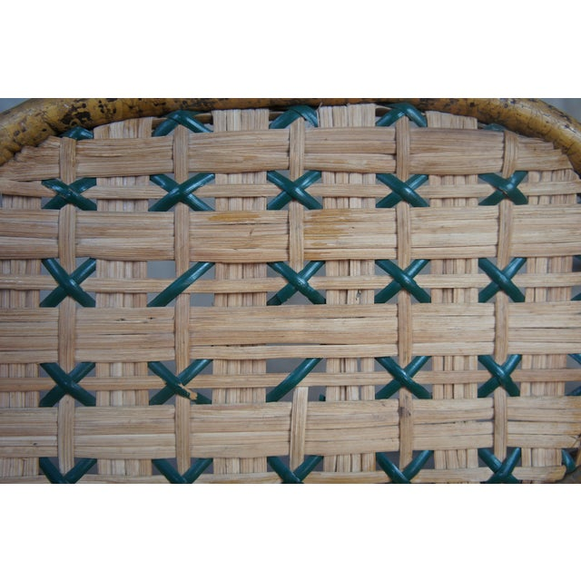 Tan Antique Child's Rattan Cained Bamboo Settee For Sale - Image 8 of 11