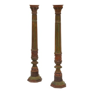 Late 19th Century Napoleon III Torchere Columns - a Pair For Sale