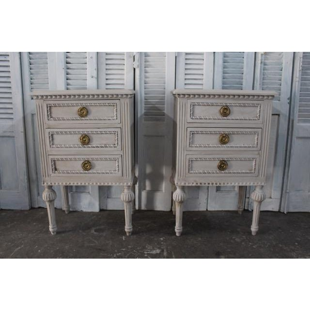 20th Century Swedish Gustavian Style Nightstands - A Pair For Sale - Image 13 of 13