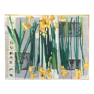 """1971 Floral """"Rome Daffodils"""" Rip Matteson Bay Area Artist"""