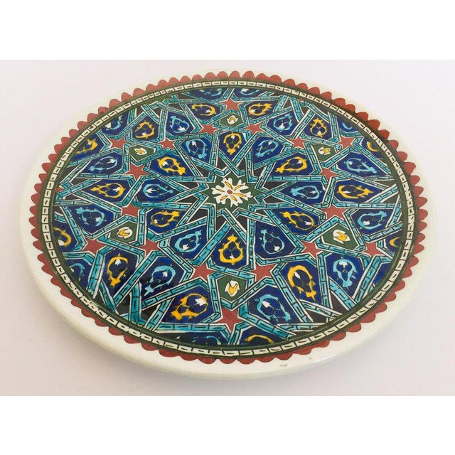 Hand Painted Ceramic Decorative Plate With Islamic Koranic Calligraphy For Sale In Los Angeles - Image 6 of 13