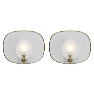 French Mid-Century Modern Sconces - a Pair For Sale