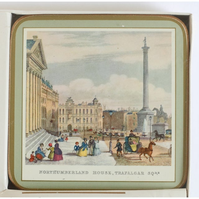 Mid-Century Modern Coasters of 19th Century London - Set of 6 For Sale - Image 3 of 7