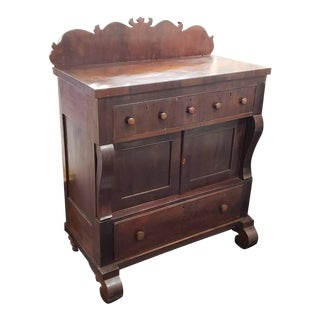 Circa 1870 American Empire Style Mahogany Chest of Drawers For Sale