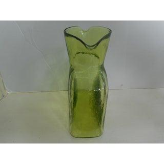 1970s Danish Modern Blenko Chartreuse Art Glass Pitcher Preview