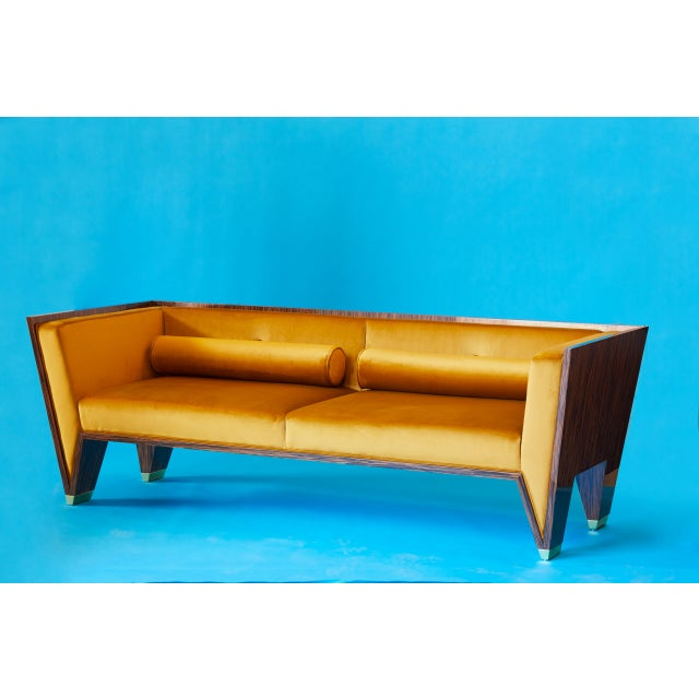 Art Deco Wedge Sofa by Artist Troy Smith - Contemporary Design - Custom Furniture For Sale - Image 3 of 9