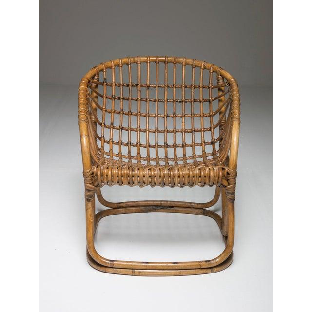 Tito Agnoli Pair of Wicker Chairs by Tito Agnoli for Bonacina For Sale - Image 4 of 7