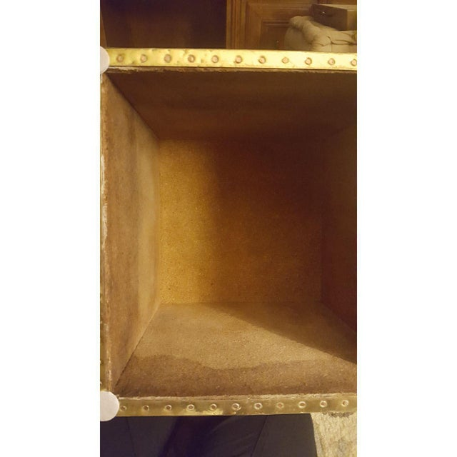 Sarreid Ltd. Brass Cube Side Tables - a Pair For Sale - Image 9 of 10