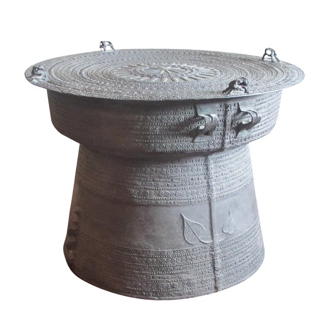 Se Asian Dong-Son Bronze Rain Drum Table - Image 1 of 10