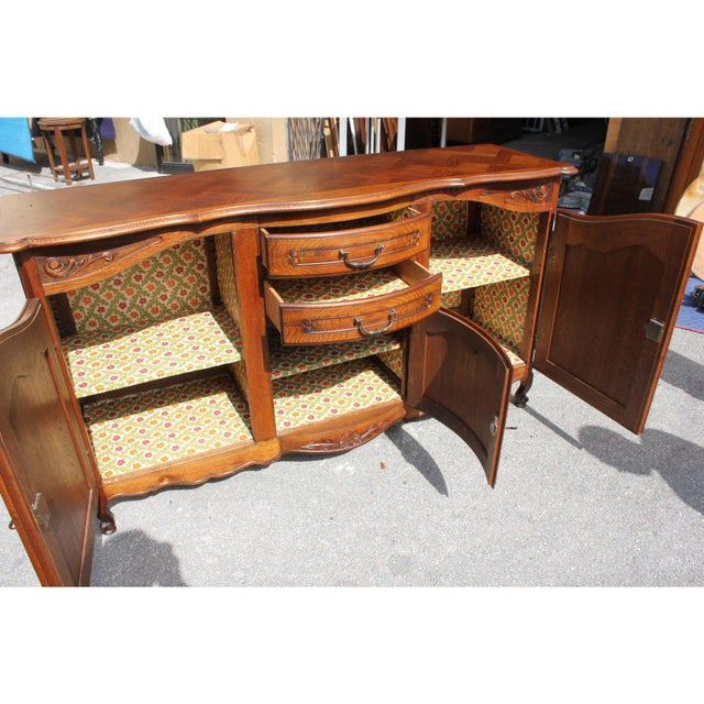 1900s French Country Solid Oak Sideboard / Buffet For Sale - Image 4 of 13