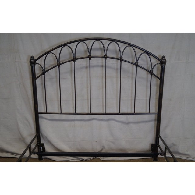 Victorian Style Iron Queen Size Bed - Image 7 of 10