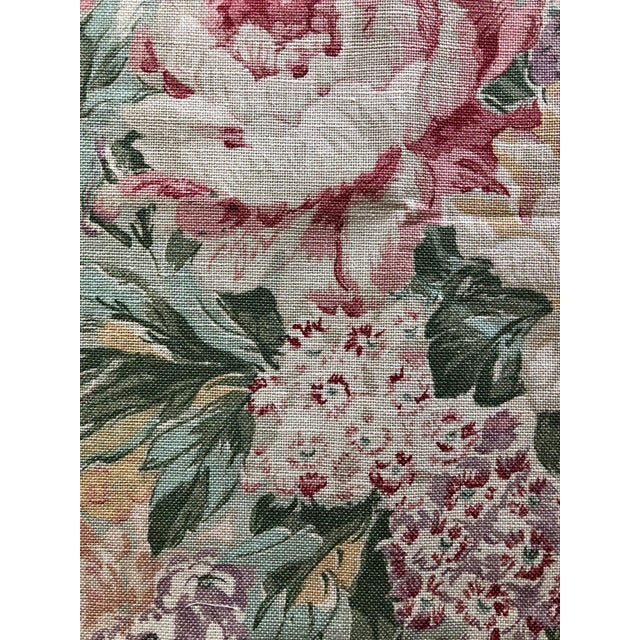 Pretty piece of Ralph Lauren cotton floral fabric. Would be suitable for one 24 inch pillow self-welted or two pillow...