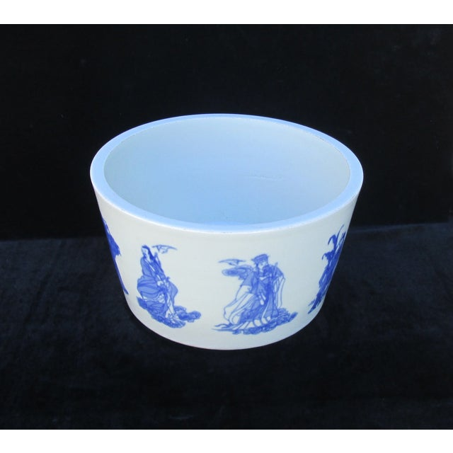 Chinese Blue & White Porcelain 8 Immortal Pot/Bowl - Image 4 of 7