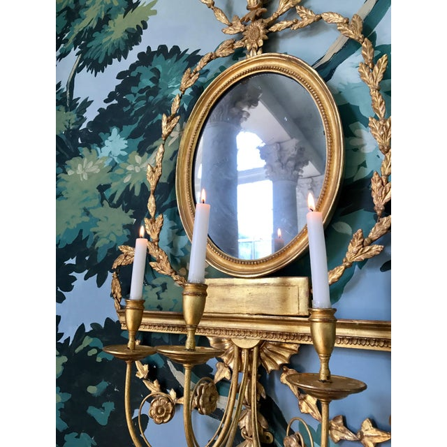 Early 19th Century Pair of Adam Style Wall Sconces For Sale - Image 5 of 6