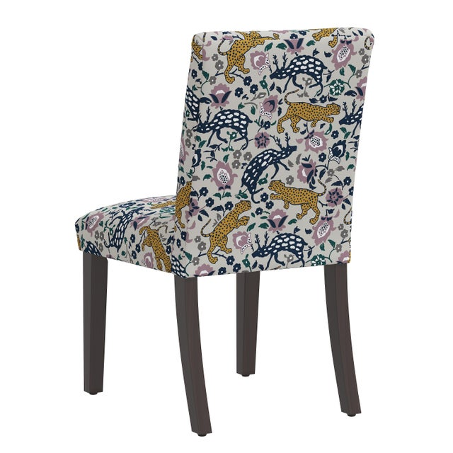 Dining Chair in Leopard Mustard Plum Fabric For Sale - Image 4 of 8