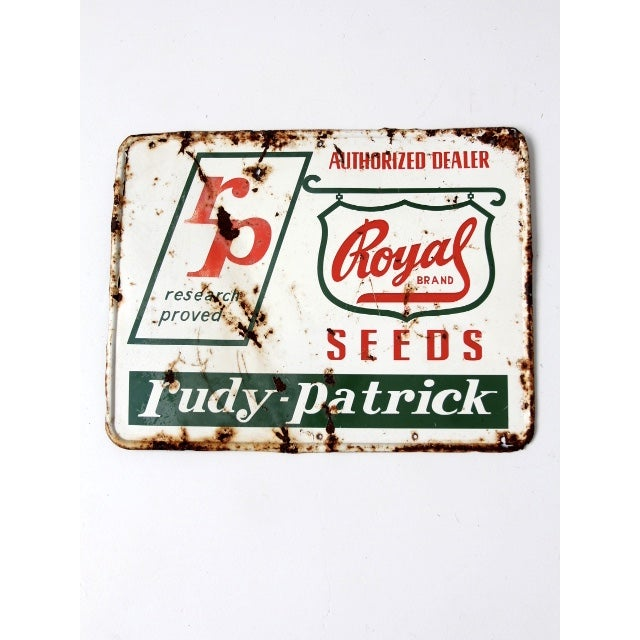 "Vintage ""RP Seeds"" Metal Sign - Image 2 of 6"