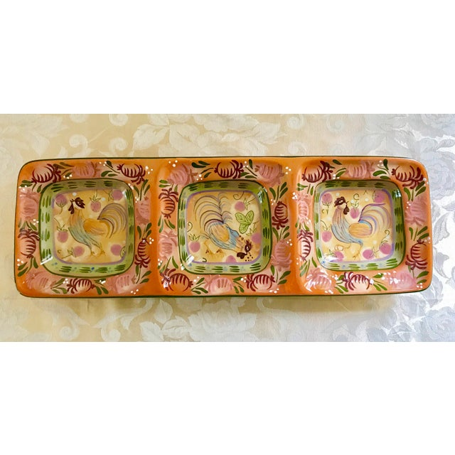 This gorgeous vintage ceramic snack tray is wonderfully hand-painted in all the beautiful colors of autumn! Perfect for...
