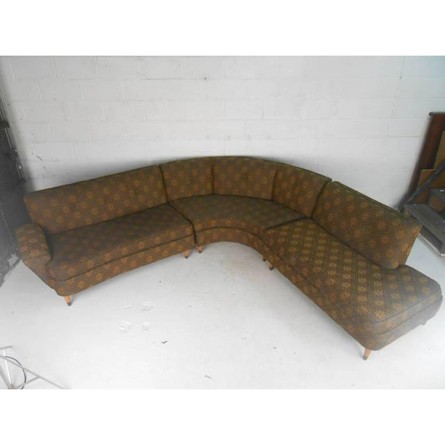 Mid-Century Modern Three Piece Sectional Sofa - Image 2 of 8