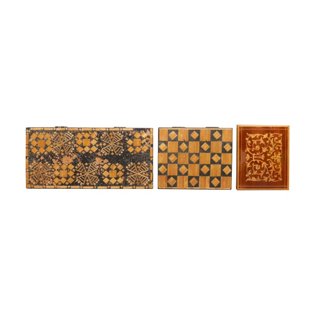 Bohemian Inlaid Trinket Boxes, Set of 3 For Sale - Image 4 of 9