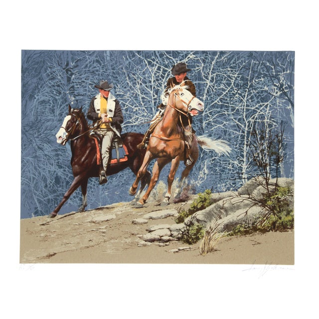 Harry Schaare Lithograph - Cowboys Racing - Image 1 of 2