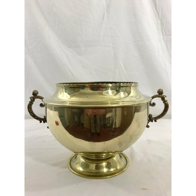 Victorian English 19th Century Brass Cache Pot For Sale - Image 3 of 6