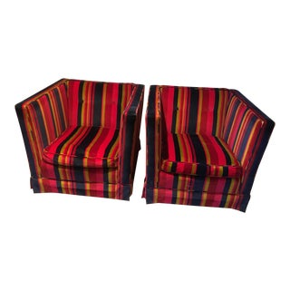1970s Vintage Kisabeth Club Chairs - A Pair For Sale