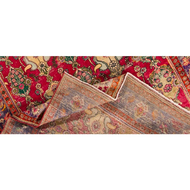 "Apadana - Vintage Persian Tabriz Rug, 8'7"" x 12'5"" - Image 4 of 5"
